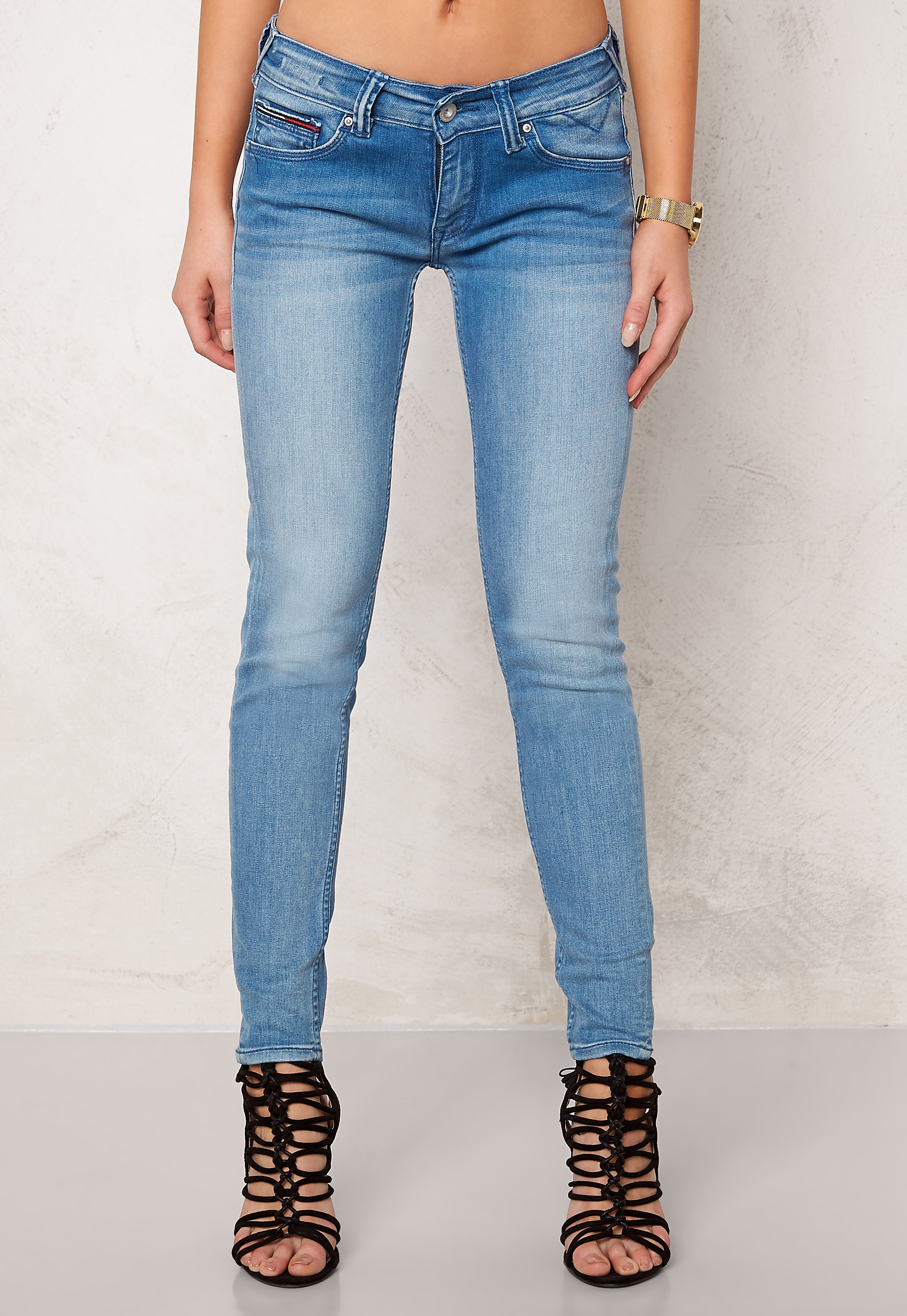 TOMMY JEANS Low Rise Skinny 7 8Sophie 911 Azur Stretch - Bubbleroom 9261bee86