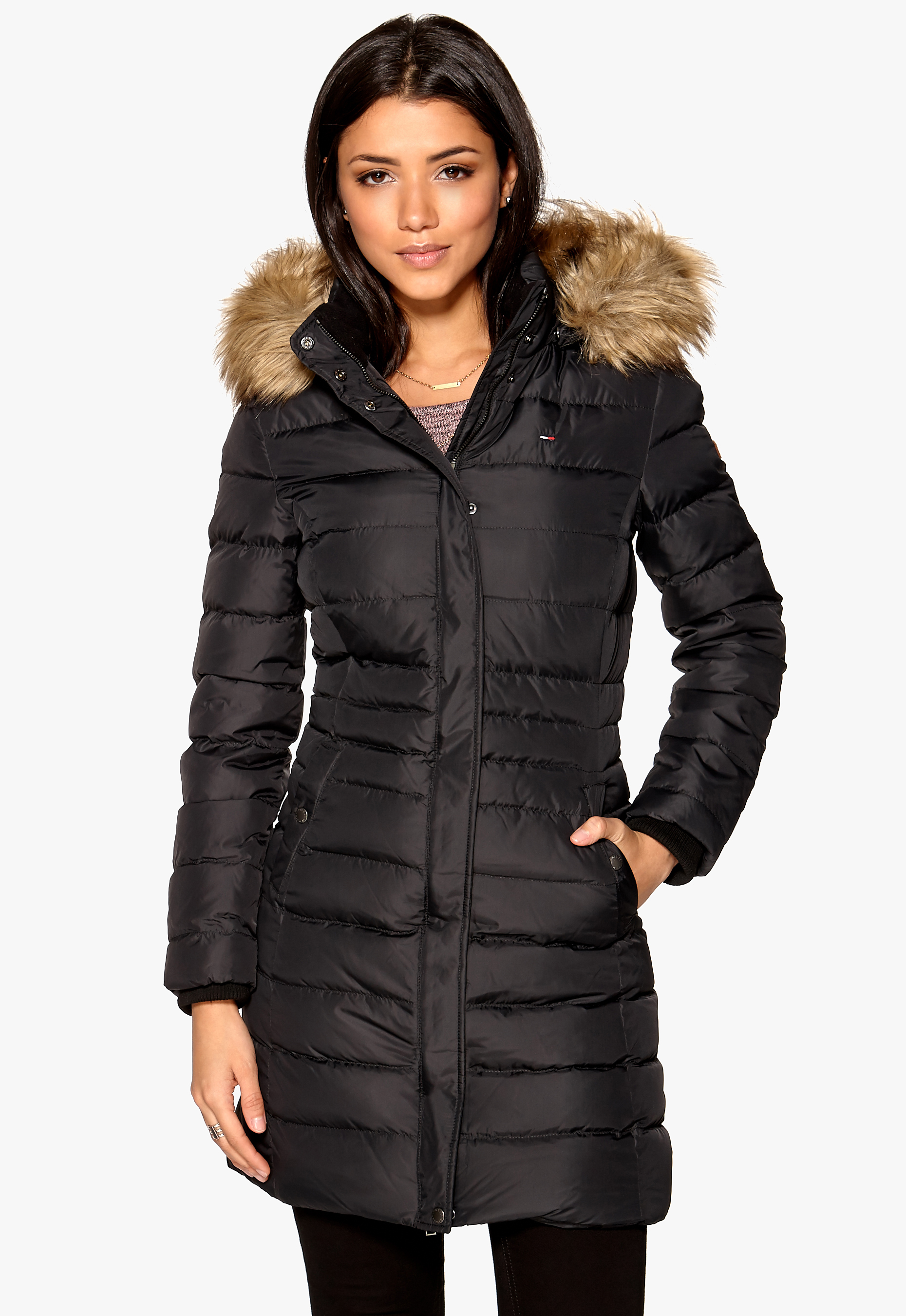 aa11c8b3 TOMMY JEANS Maria Down Coat Tommy Black - Bubbleroom