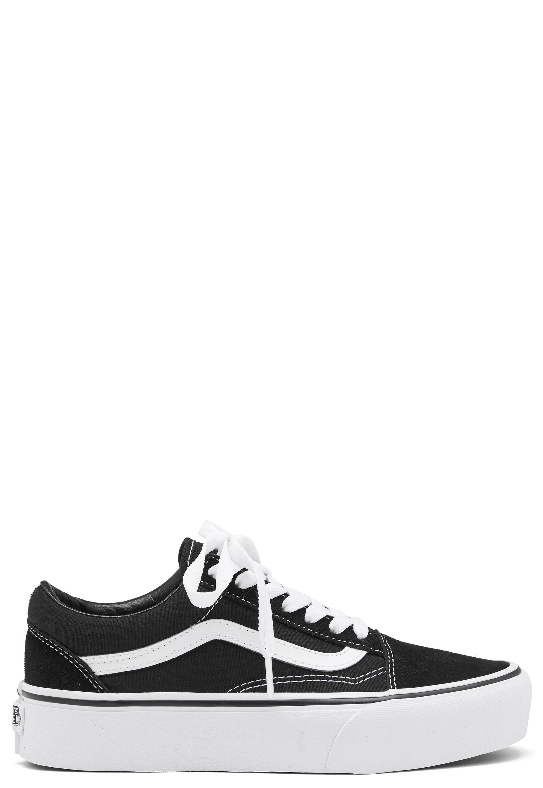 94371666b48a Vans Old Skool Platform Black White - Bubbleroom