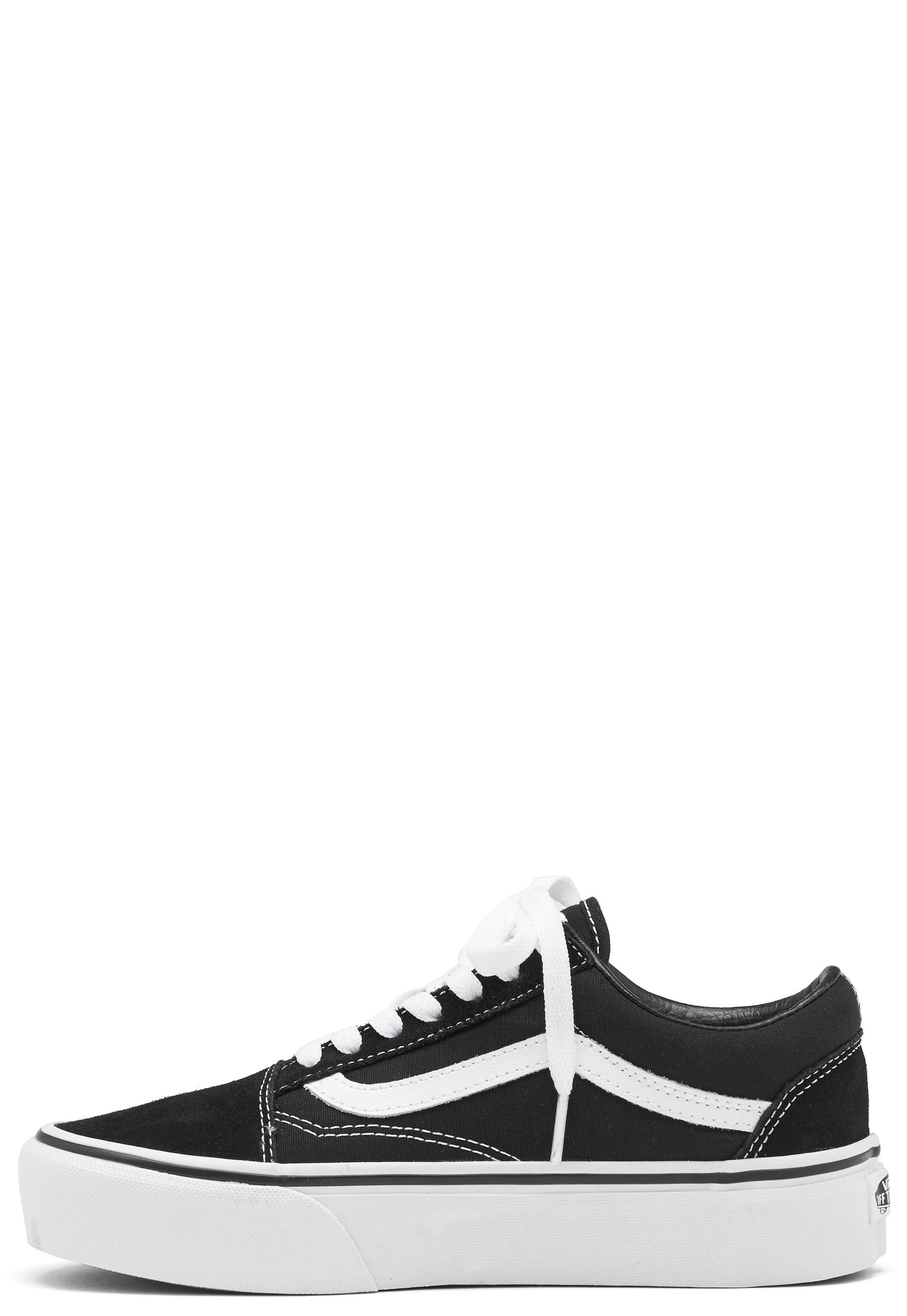 bc34f500d64 Vans Old Skool Platform Black White - Bubbleroom