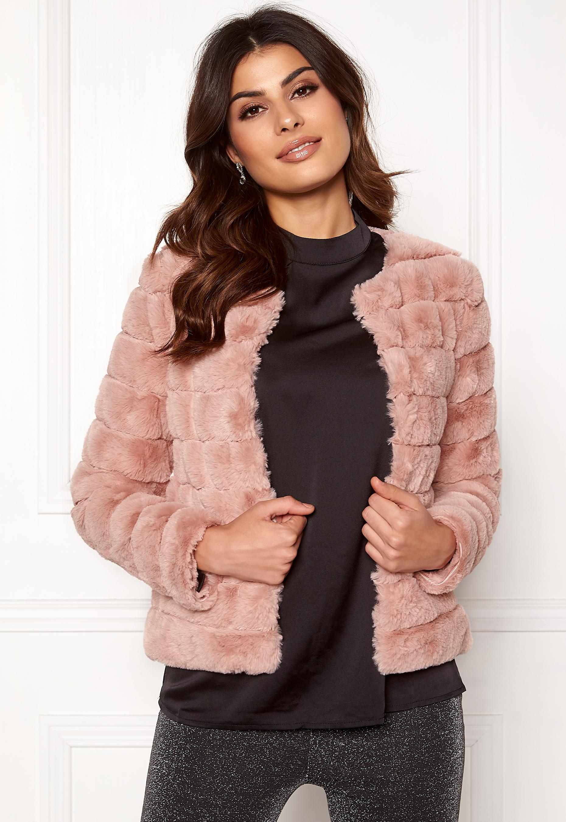 14599bee862f VERO MODA Avenue Faux Fur Short Misty Rose - Bubbleroom