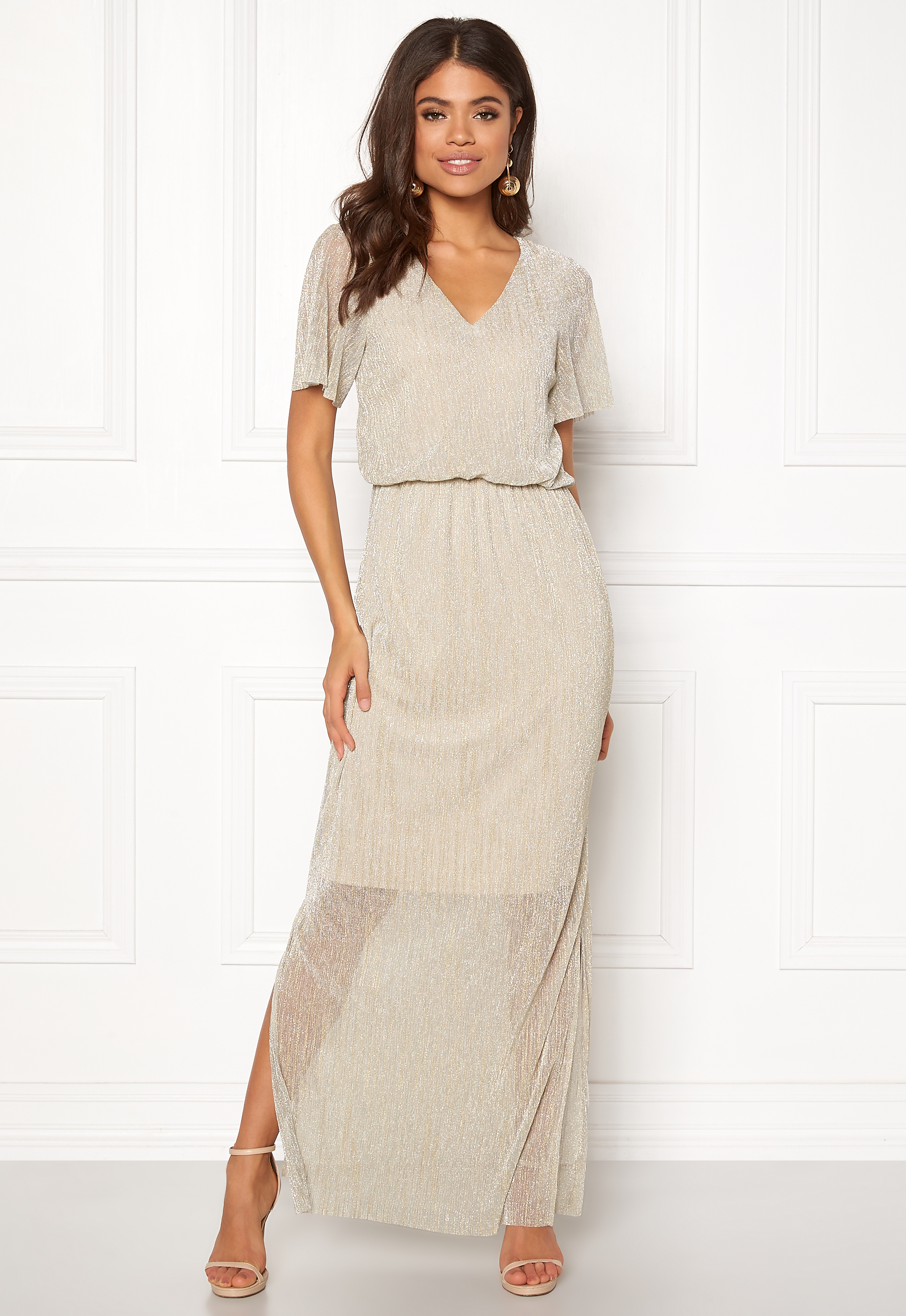 2e62cbe3cacf VERO MODA Kamila Long Dress Ash - Bubbleroom