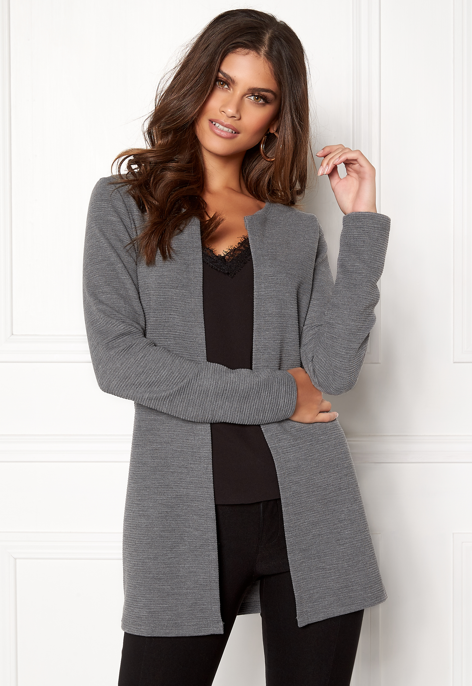Melange Vero Ls Paris Bubbleroom Medium Cardigan Grey Moda SqZw1Pf