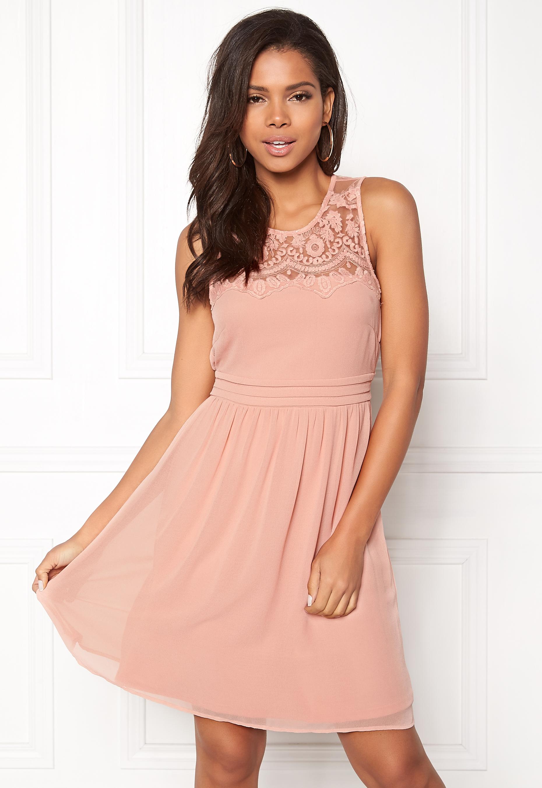 f948ffc043ca VERO MODA Vanessa SL Short Dress Misty Rose - Bubbleroom