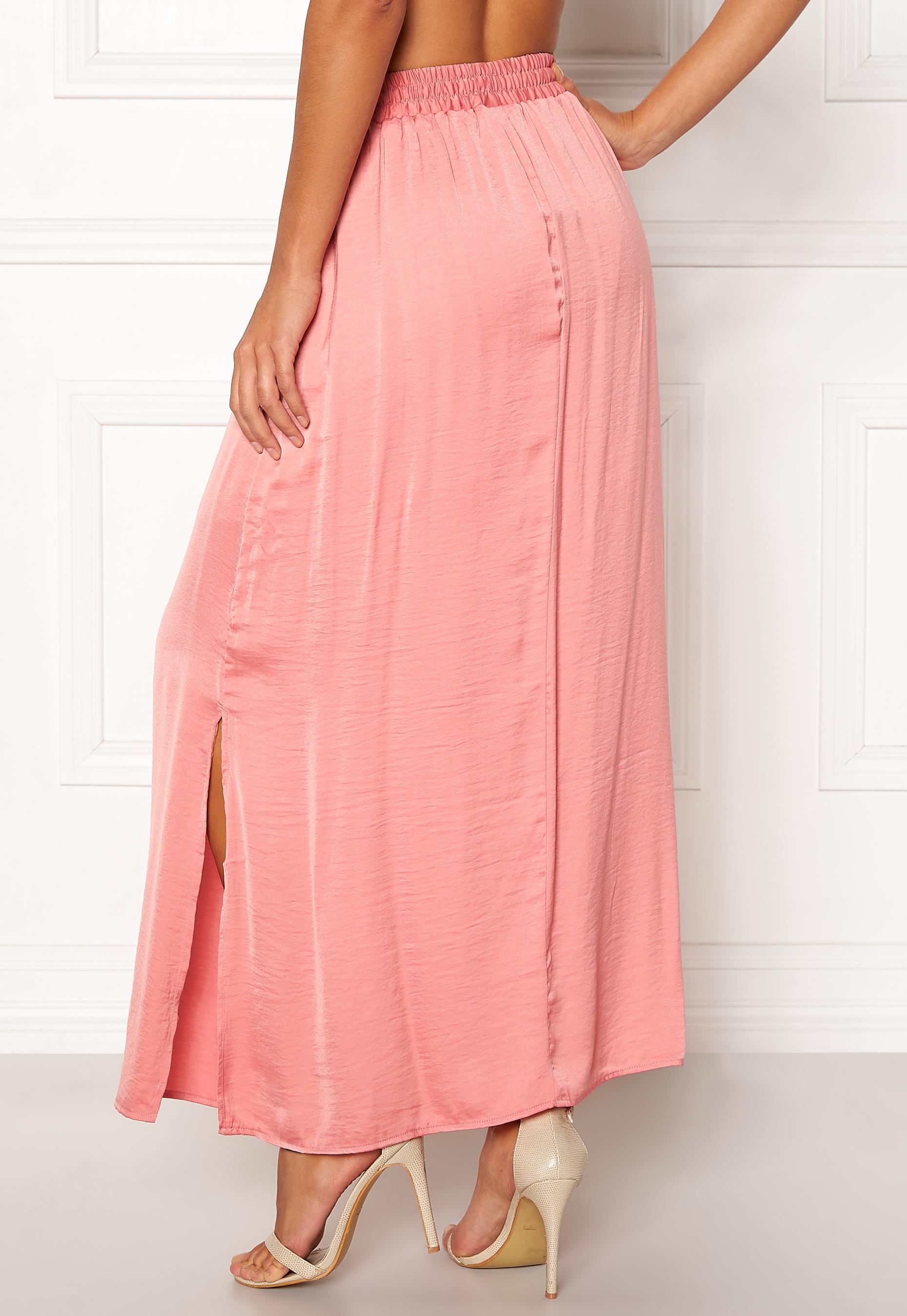 82b56e618c0f VILA Cava Maxi Skirt Brandied Apricot - Bubbleroom