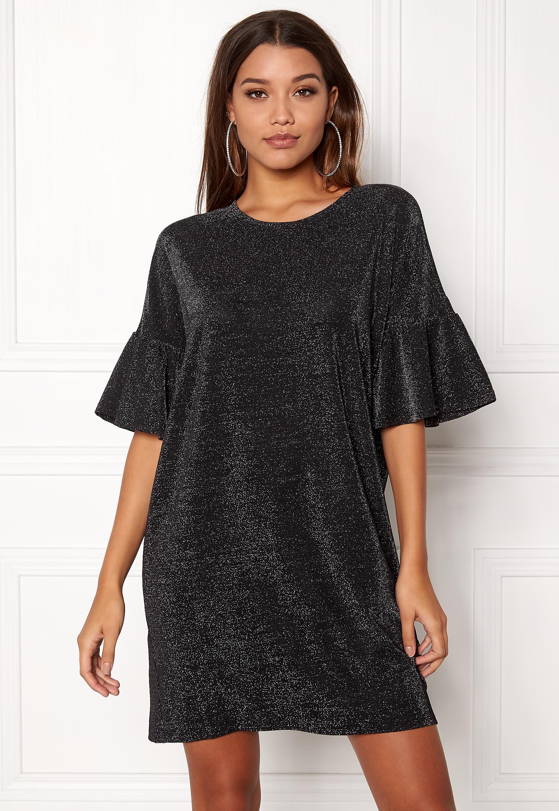 63cc66d77da1 VILA Jomine T-Shirt Dress Black - Bubbleroom