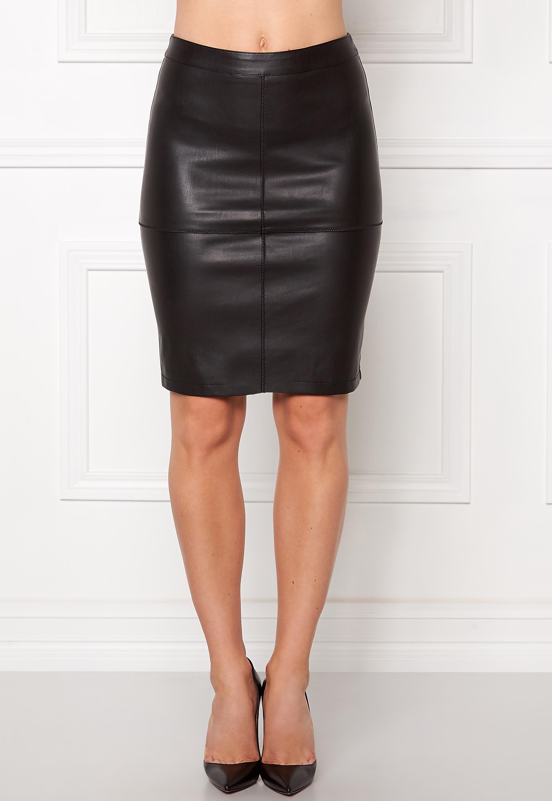 c6611ef56c VILA Pen New Skirt Black - Bubbleroom