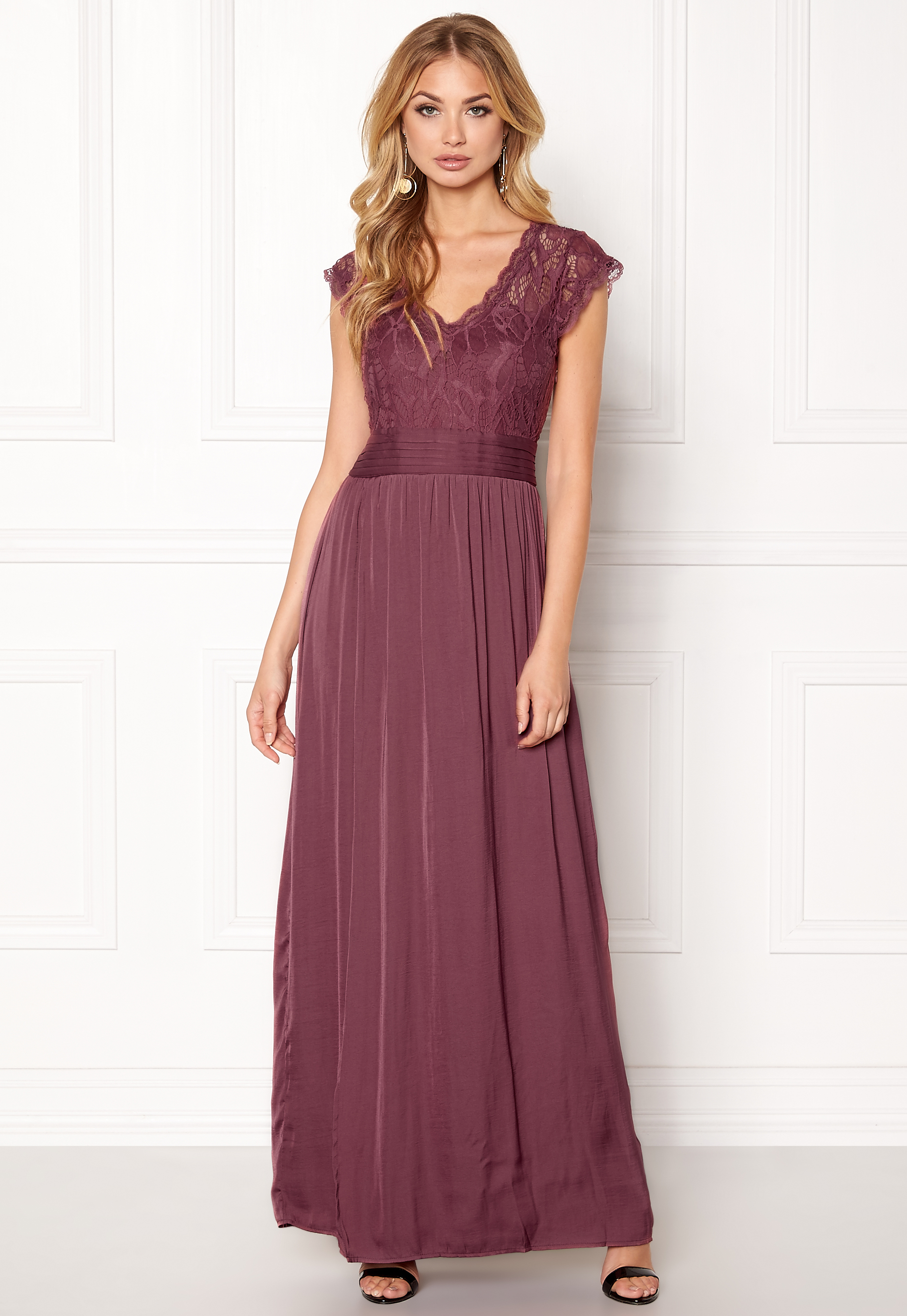 98d81a0671e2 VILA Ponny Maxi Dress Renaissance Rose - Bubbleroom