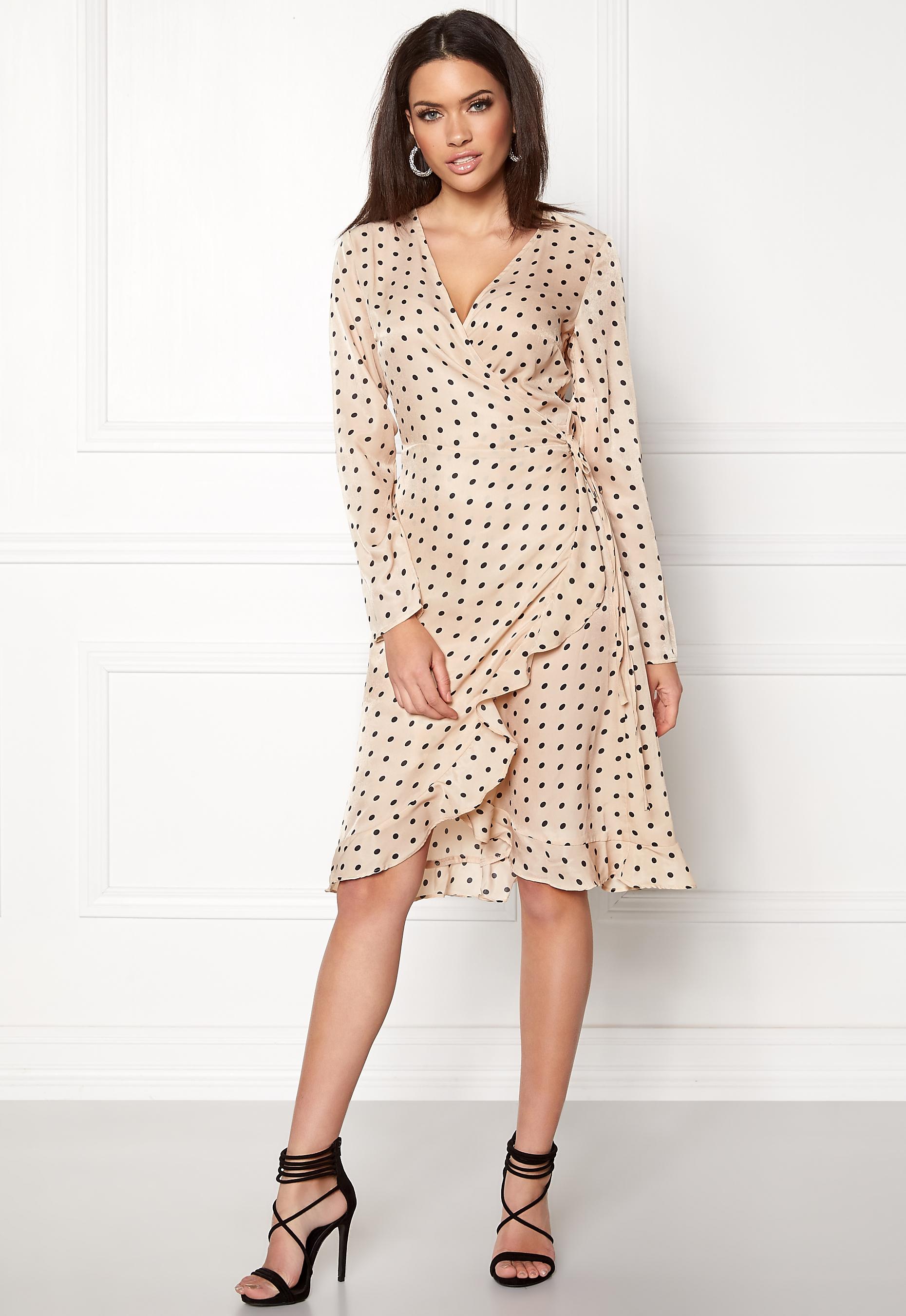 eb24d0148068 VILA Soap L S Dress Sandshell - Bubbleroom