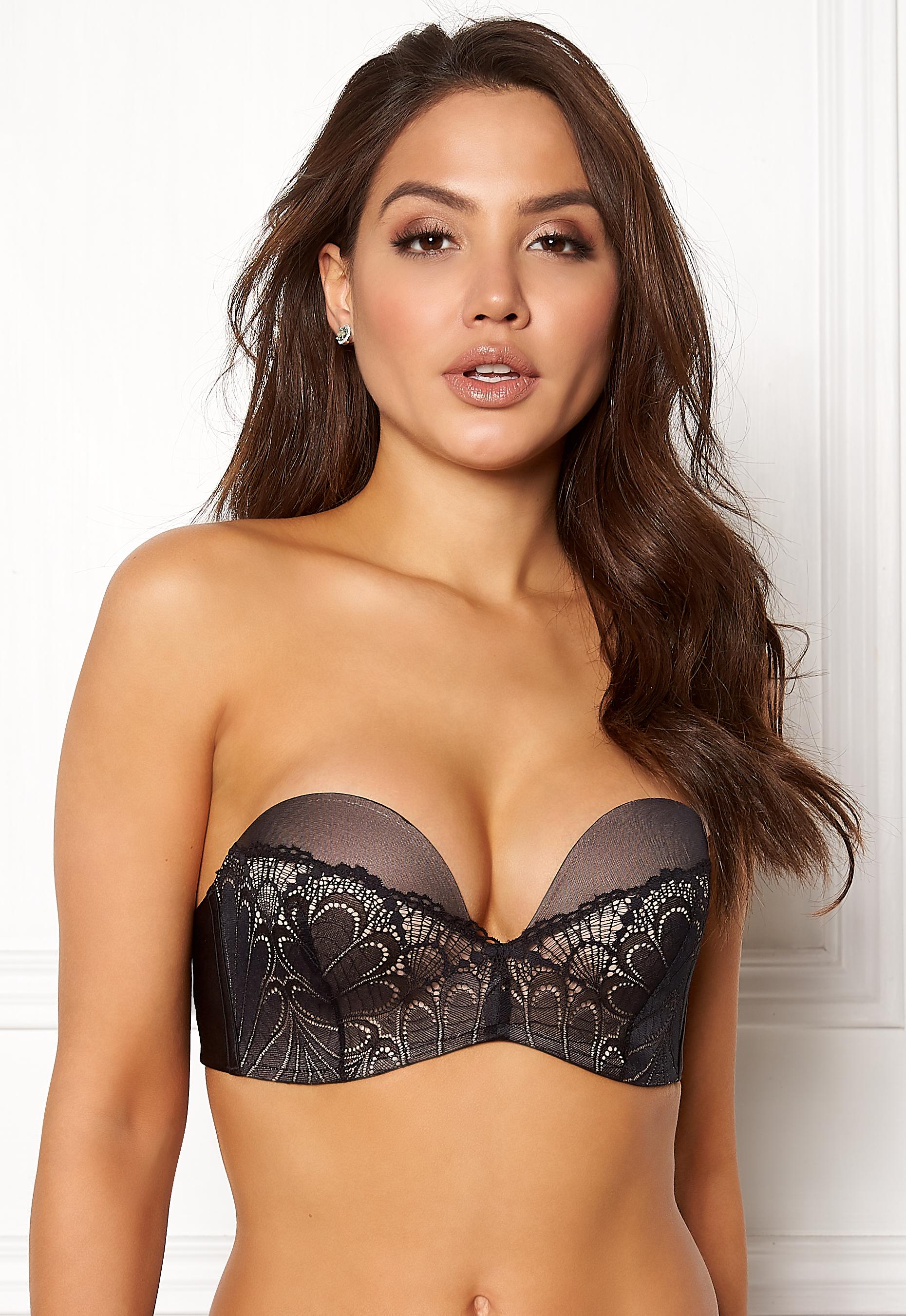 308b90dc4e553 Wonderbra Glamour Perfect Strapless Bra Black - Bubbleroom