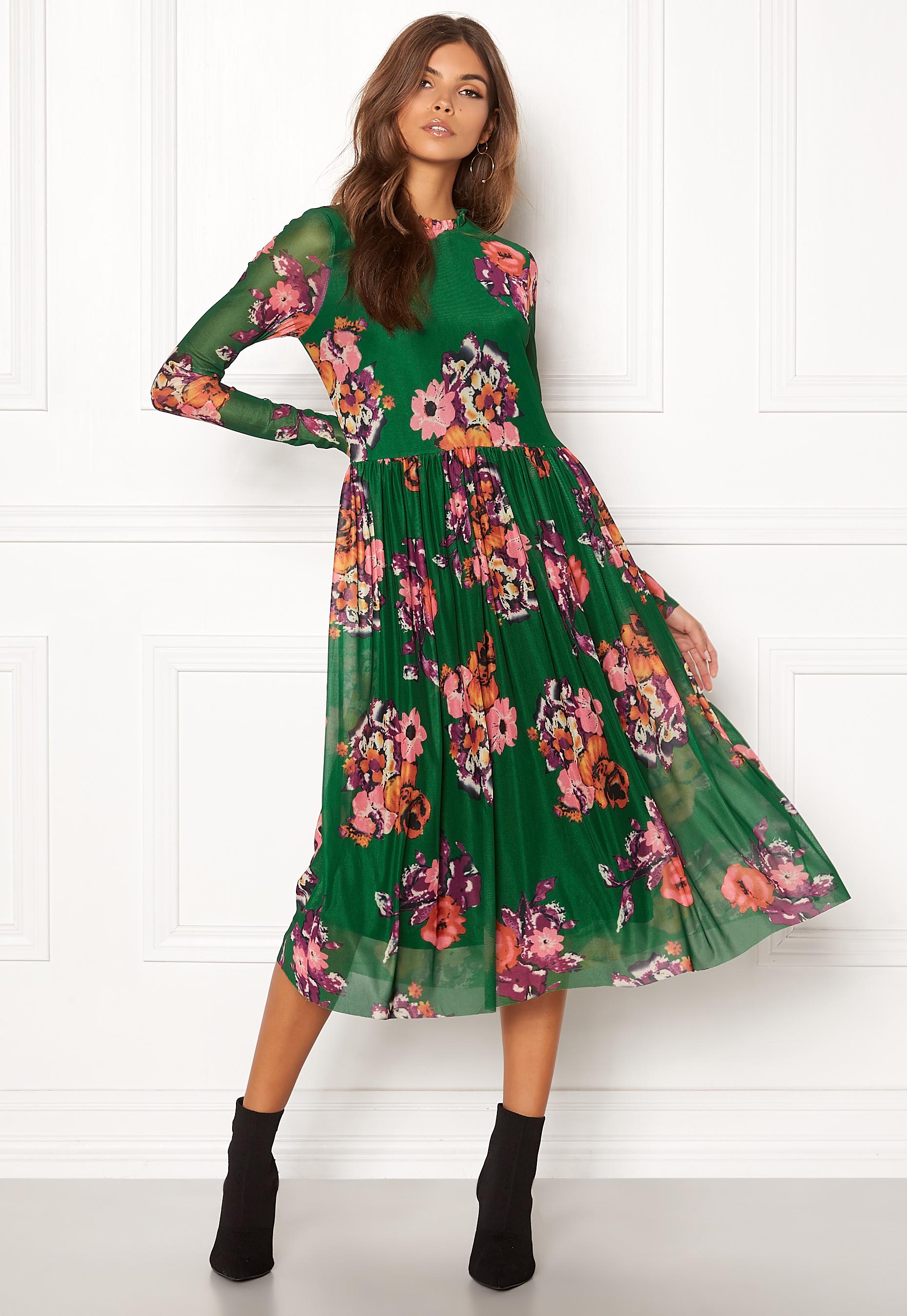 3a4b39c8 Y.A.S Vicca LS Mesh Dress Eden - Bubbleroom